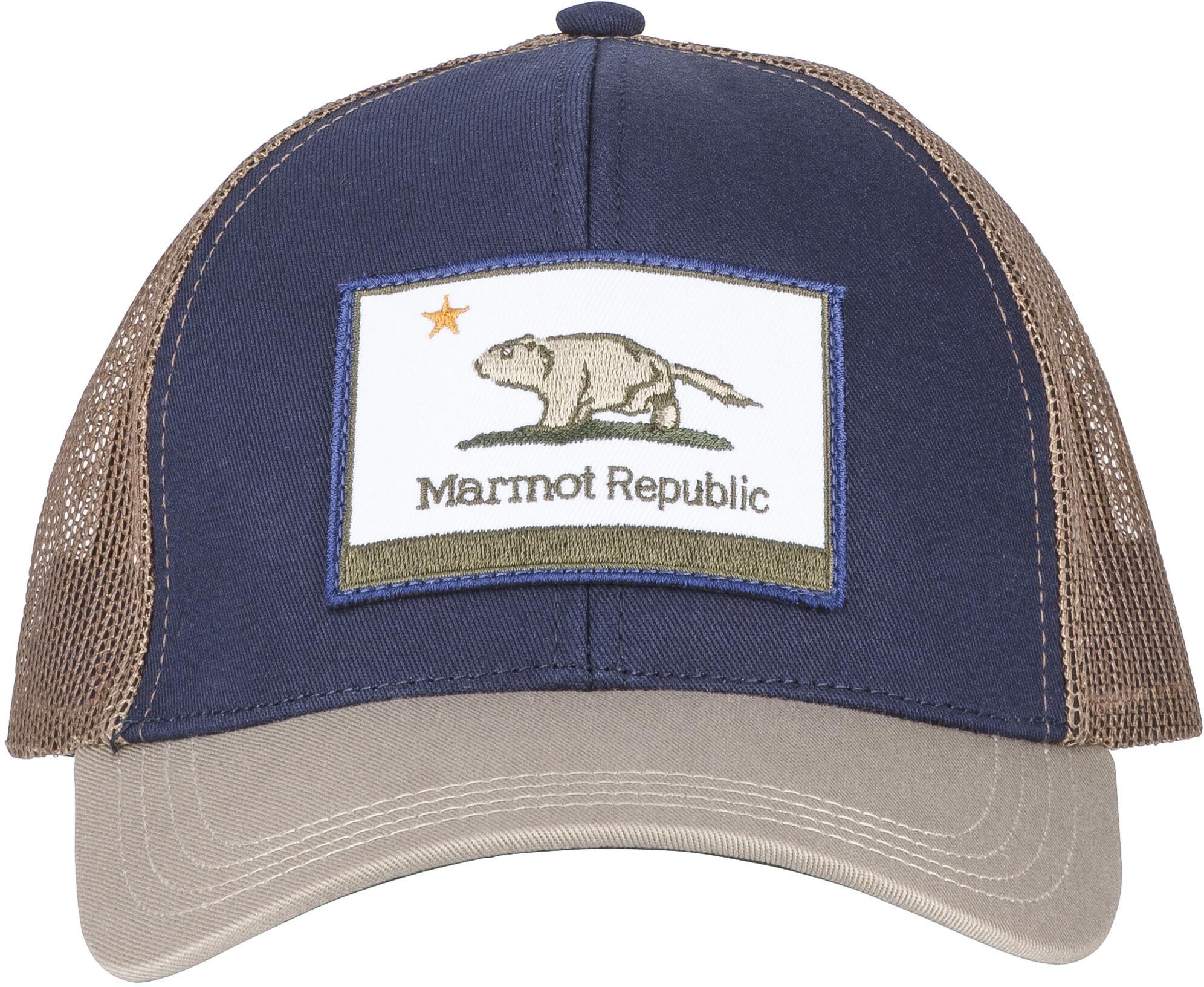 magasin discount classique nouveau authentique Marmot Republic Casquette trucker, vintage navy/light khaki